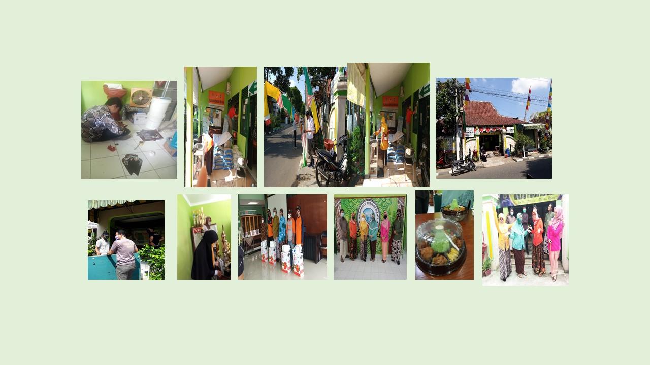 Kegiatan Pegawai Kelurahan Purwokinanti dalam suasana HUT Kota Yogyakarta yang Ke 264