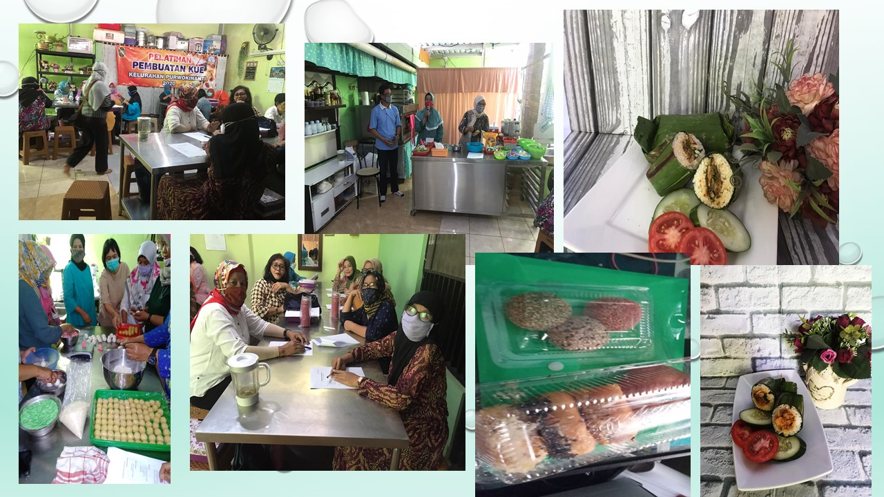 Pelatihan  Pembuatan Kue Kelurahan Purwokinanti Tahun 2020