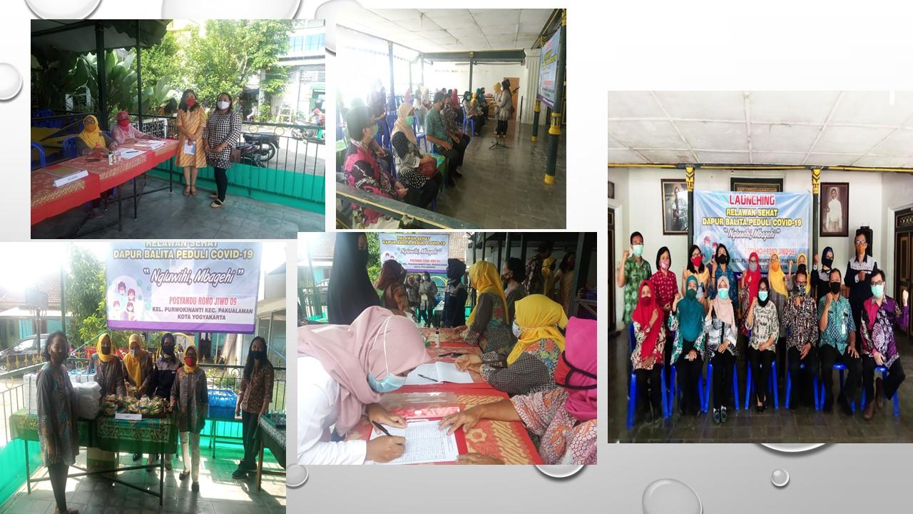 Foto Launching Relawan Sehat Dapur Balita Peduli Covid-19, Posyandu Rono Jiwo 09
